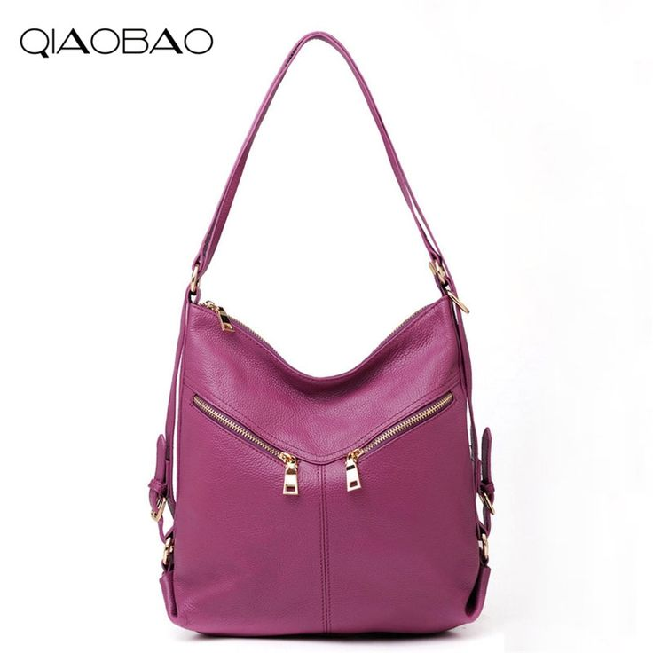 49.30$  Buy now - http://alihum.shopchina.info/1/go.php?t=32817494798 - QIAOBAO 2017 100% Genuine Leather Bag college trend travel Backpack classics shouder bag women Cowskin lady bag   #magazineonlinewebsite