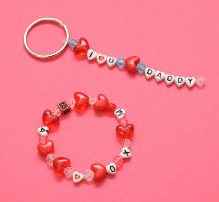 Letter Beads Bracelet & Keyring Dangler