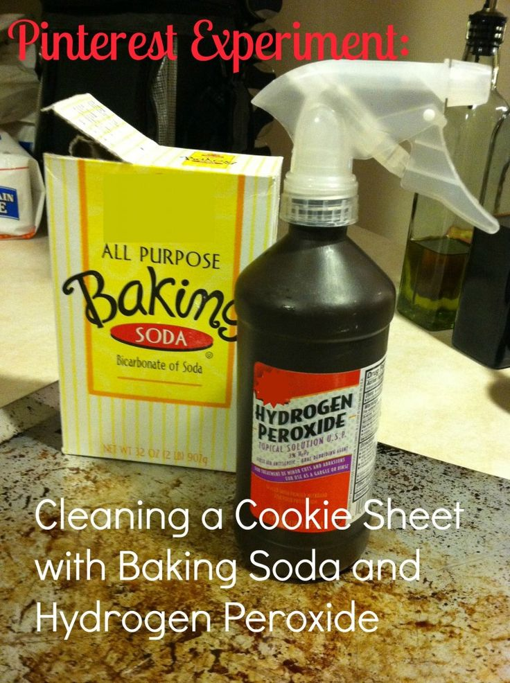 how to get burnt off baking sheet
