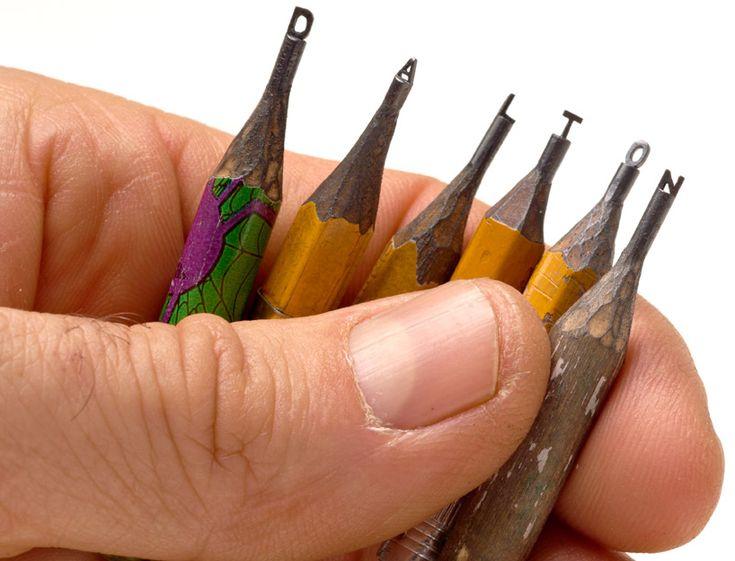 pencil sculptures by dalton ghetti