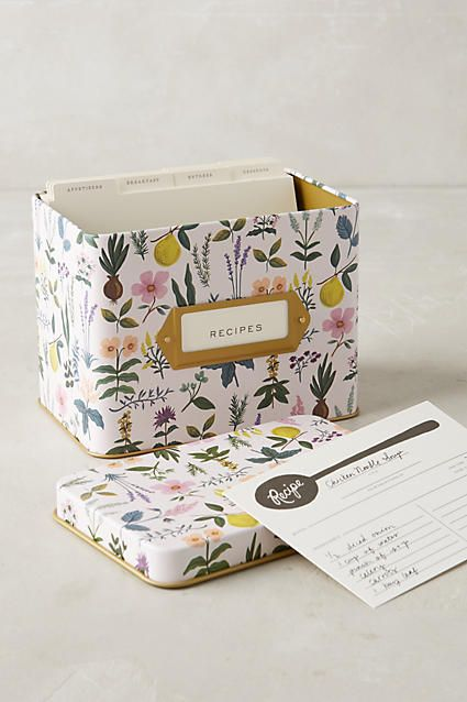 Spring Garden Recipe Tin #anthropologie #anthrofave