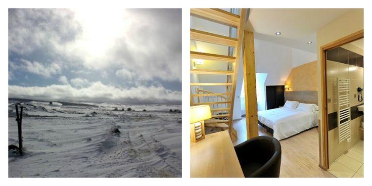La neige donne une autre facette aux plateaux de l'aubrac. Plein d'activités s'offrent à vous comme: le ski de fond, les raquettes... Profitez donc d'un court séjour à l'hôtel Les 2 Rives #aubrac #tourisme lozère #tourisme d'hiver séjour à la neige