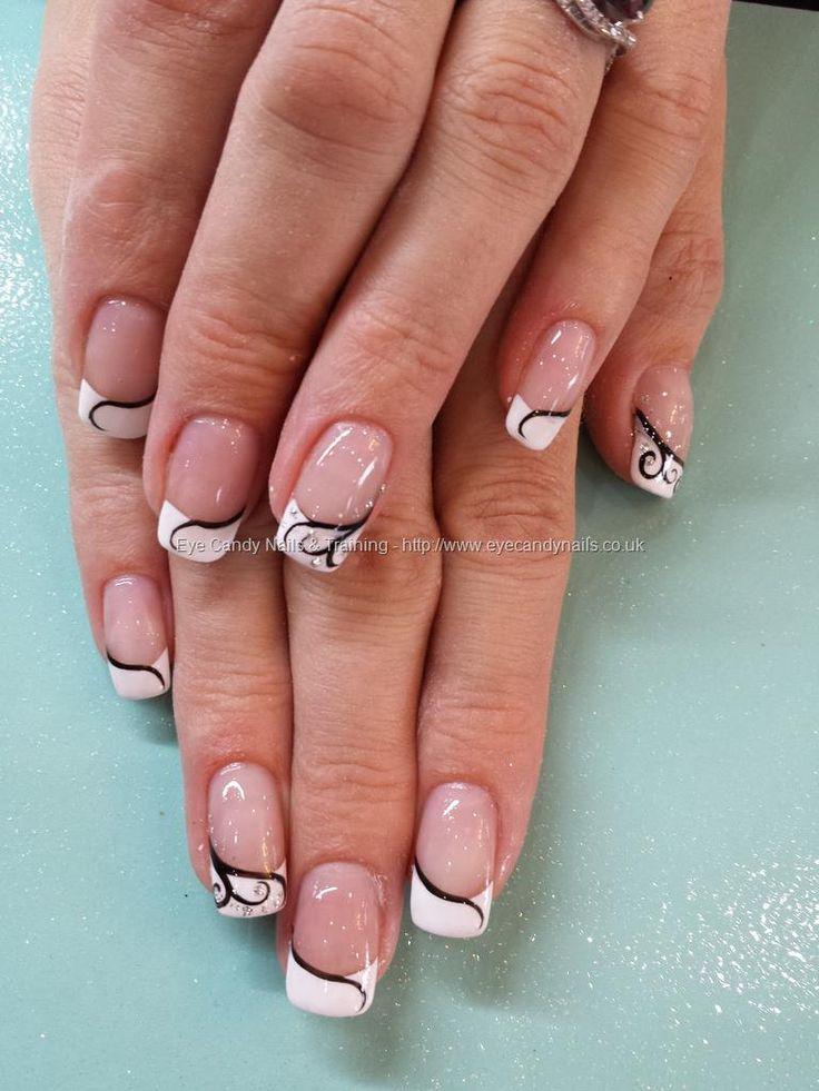 gel nail art designs french tip nail designs french nail art nail art