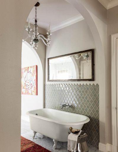 Baños Estilo Ajedrez:azulejos blancos decoración original de baños baños y tendencias