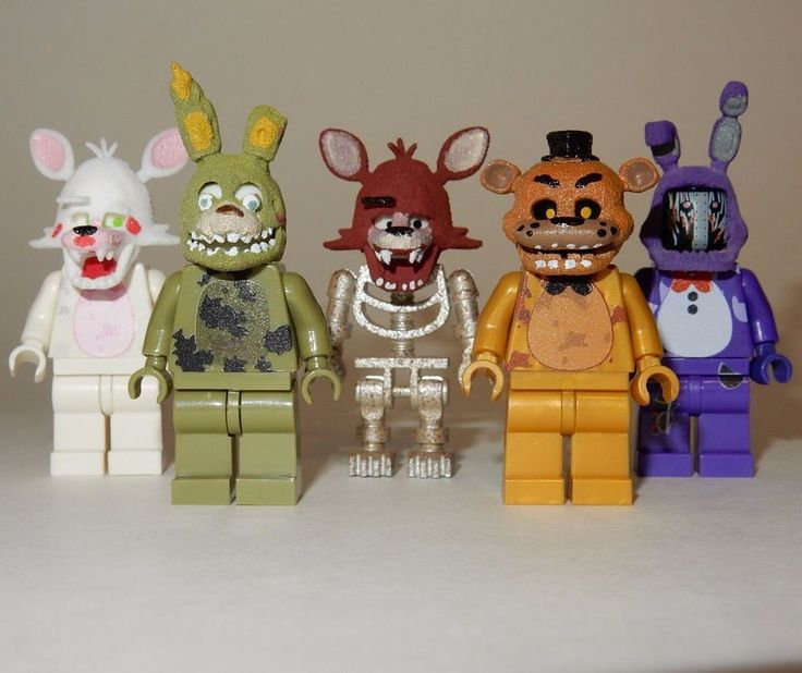 X5 New Lego Custom Printed Fnaf Five Nights at Freddy's Minifigure Lot | eBay