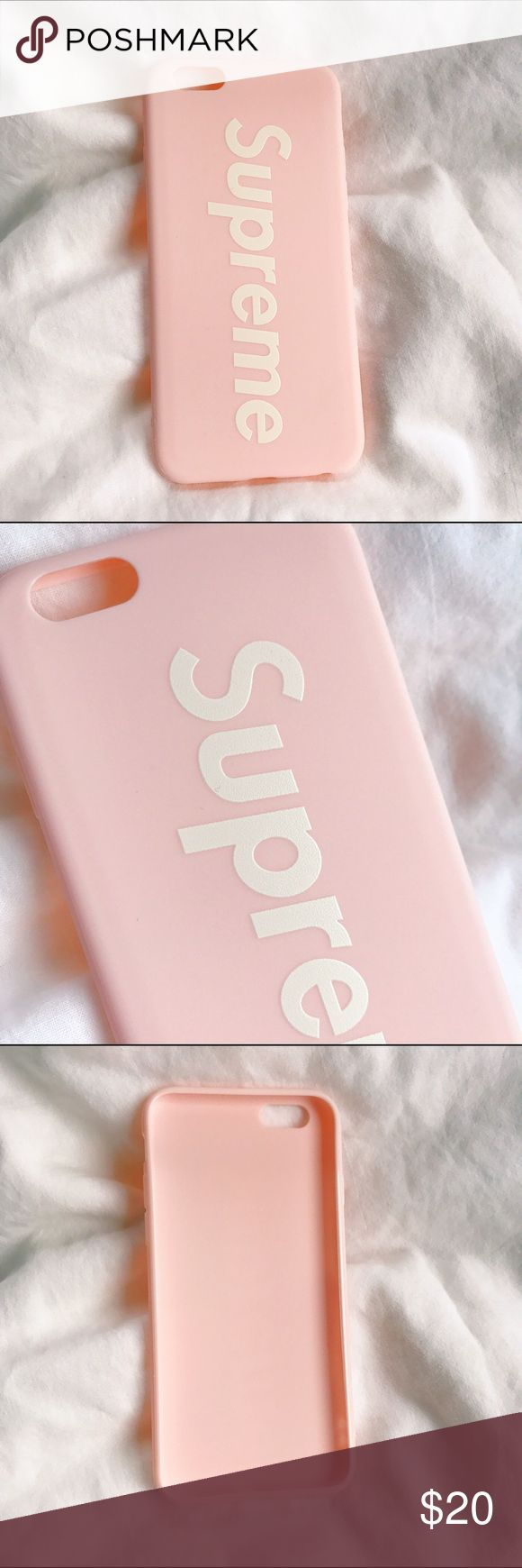 Supreme baby pink iphone case Brand new Matte bendy case Only have 1 ! Brandy Melville Accessories Phone Cases