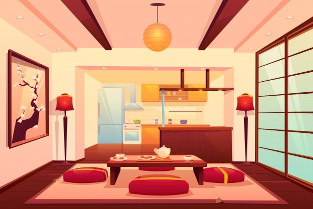 Pin By Honeydew On Bg Living Room Background Anime Background Anime Backgrounds Wallpapers Living room anime apartment background