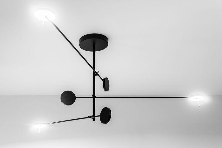 Gdanski Teatr Szekspirowski, greenroom interior design by Marta Koniczuk, LEDS c4 lamp detail