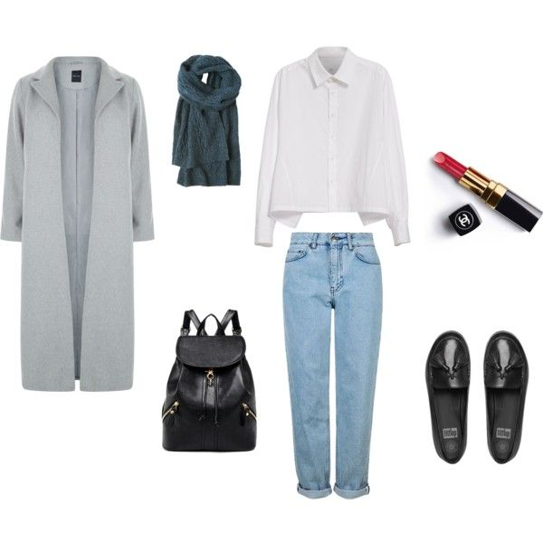 A fashion look from October 2016 featuring Y's by Yohji Yamamoto blouses, New Look coats and Topshop jeans. Browse and shop related looks.