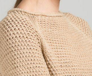 NUDE Sweater Sophisticated Texture. Nataliya Nada NYC. 100% Italian Cotton