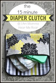 15 Minute Diaper Clutch tutorial - cute idea for your friend's baby