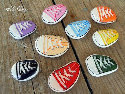 Sneakers~ Painted Rocks