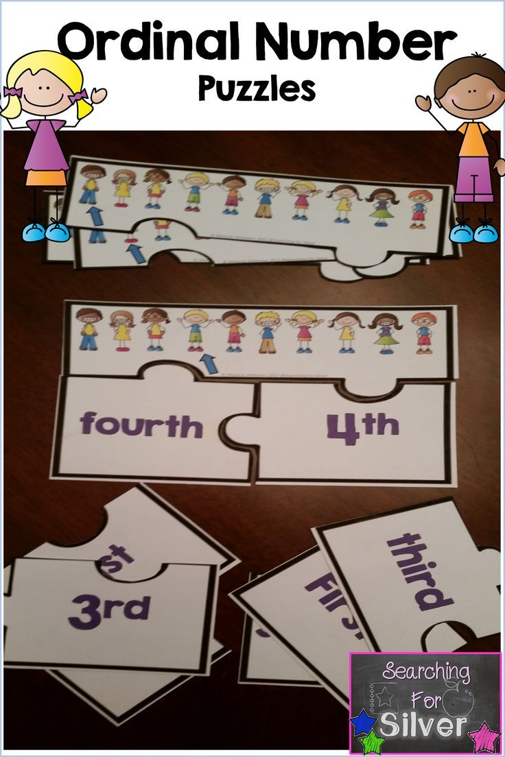 Ordinal number puzzles!                                                                                                                                                     More