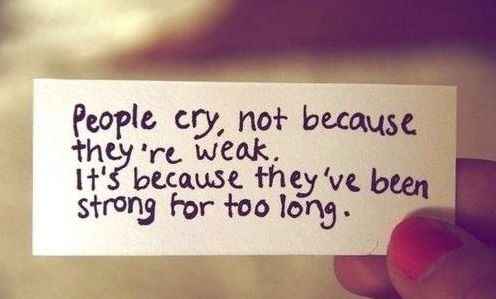 don't cry :)