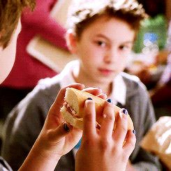"""When Connor paints his nails blue in solidarity with weird little Jude. 