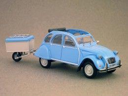 Citroën 2CV + remorque (Eligor) 1/43e