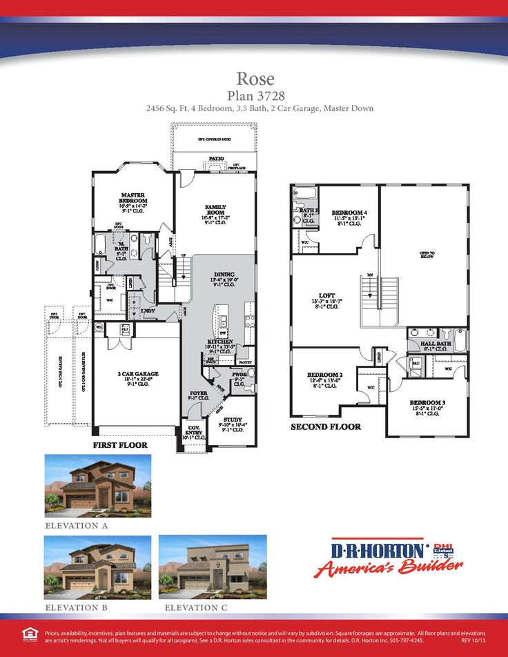 DR Horton Rose Floor Plan via wwwnmhometeamcom