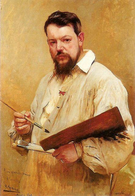 Portrait of painter Joaquin de Sorolla y Bastida by Jose Jiménez Aranda,1901