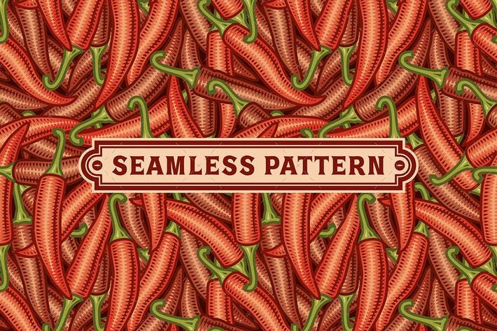 Seamless Chili Pepper Pattern #background #retro  • Download here → http://1.envato.market/c/97450/298927/4662?u=https://elements.envato.com/seamless-chili-pepper-pattern-FJR7K2