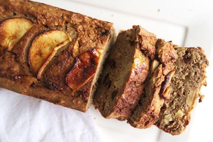 Havermout appeltaart cake met rozijnen