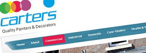 Carters Painters & Decorators, Content Managed, Case Study