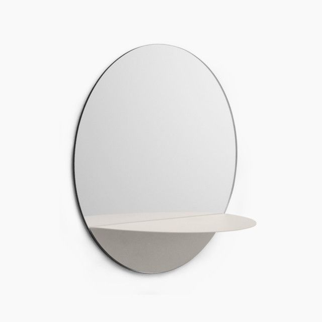 Horizon Round Mirror, White - Normann Copenhagen | The Fjord Store