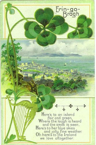 vintage postcard: Erin Go Bragh ~ Here's to an island... | by CharmaineZoe's Marvelous Melange @ Flickr