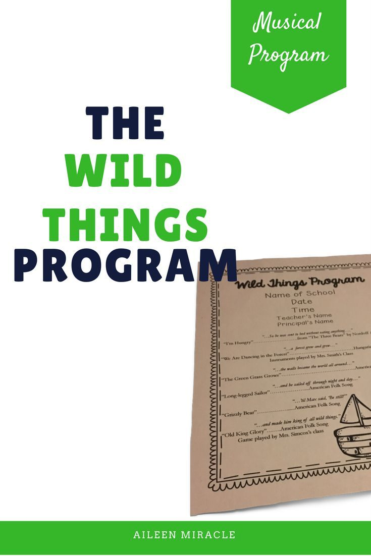 Where the Wild Things Are Musical Program: This musical is a crowd and student favorite, and is SO easy to put together with accessible songs and dances!