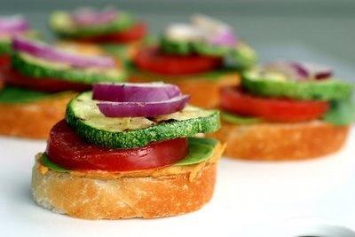 Open Faced Veggie Sliders: Veggie Sliders, Veggie Sandwiches, Vegie Sliders, Perfect Sliders, Culinary Greatness, Open Faced Veggie, Veggies, Open Faces Veggie