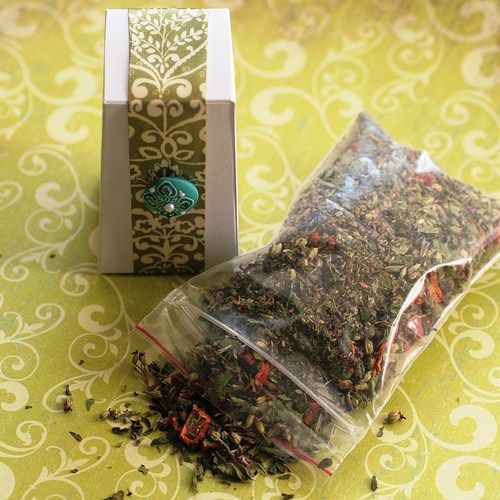 homemade herbal tea recipes with cute gift boxes