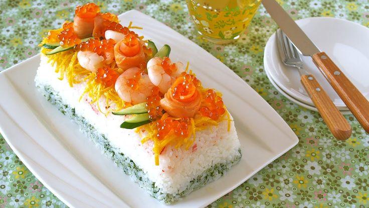 How to Make Sushi Cake (Hinamatsuri Recipe) 寿司ケーキの作り方 (ひな祭り レシピ)
