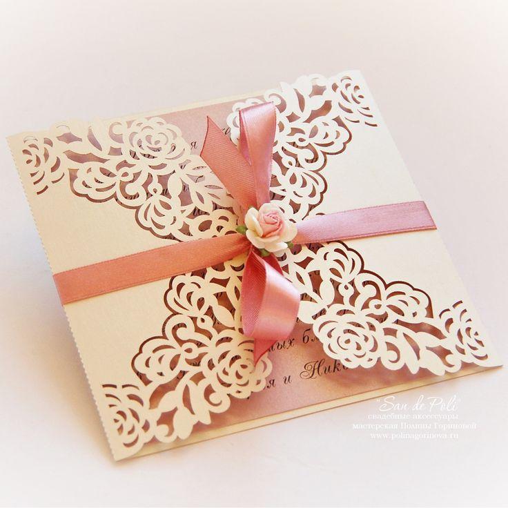 Wedding invitation Pattern Card 66 Template от EasyCutPrintPD