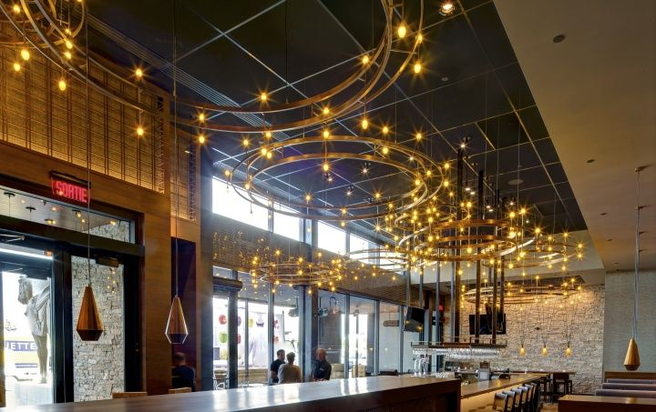 P.F. Chang restaurant by Aria Group Architects & Bloom Lighting Group, Laval – Canada