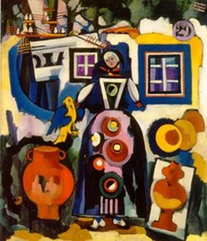 Popular song bird and Brazil - Amadeo de Souza-Cardoso, 1916, Expressionism
