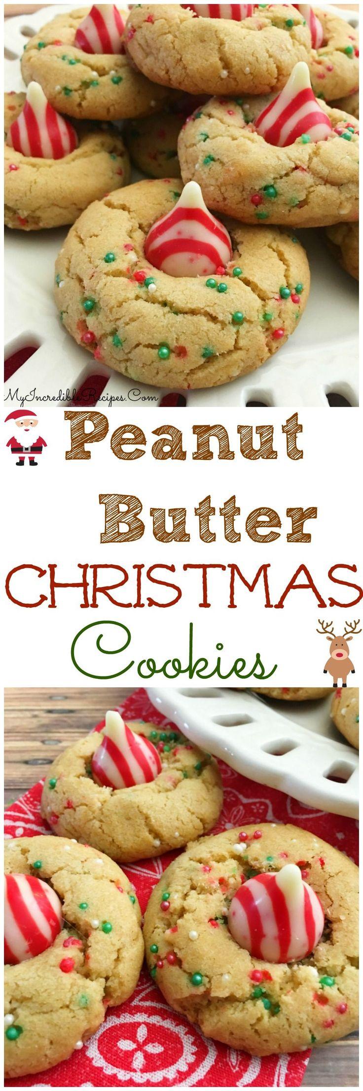Peanut Butter Christmas Cookies!