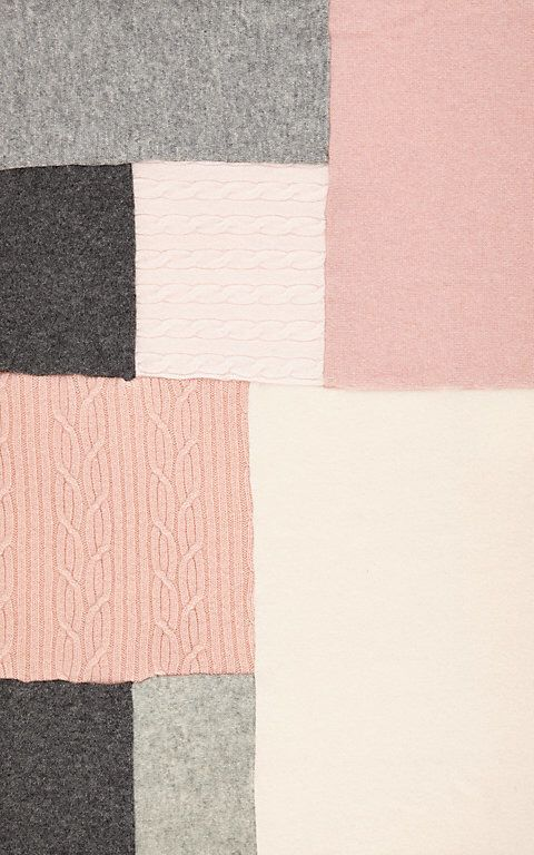This blanket would make a very special gift   Agua Patchwork Cashmere Baby Blanket