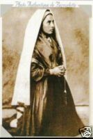 St Bernadette photo 1862.