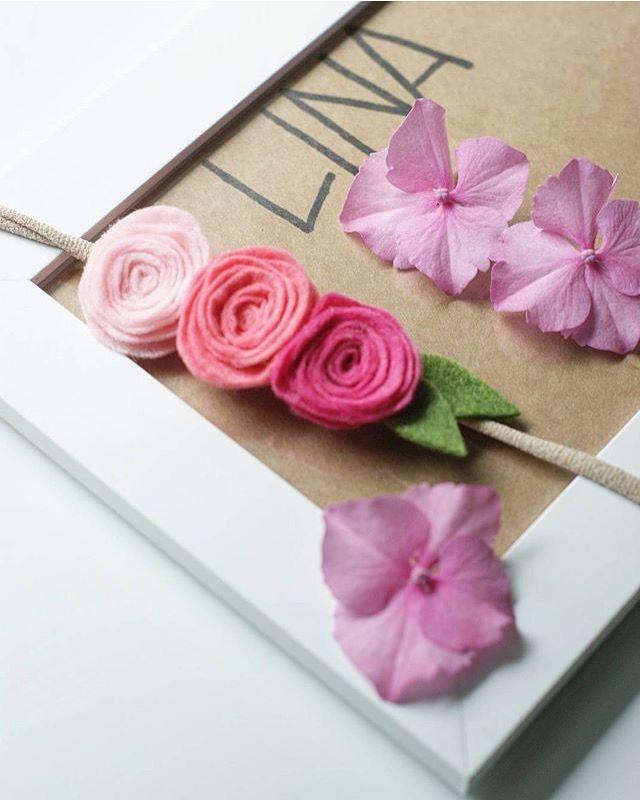 #roses #headband #felt #headband