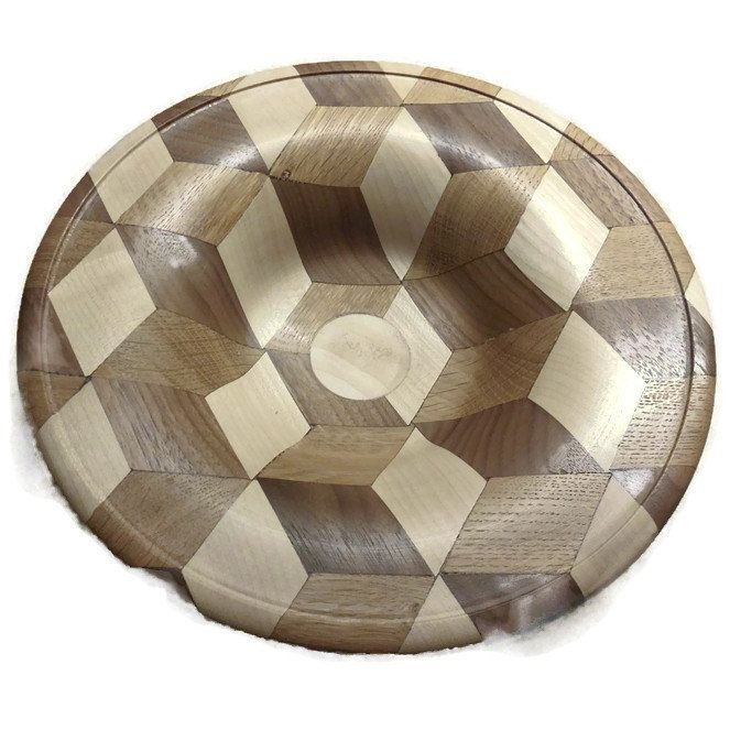 Hand-Turned Bowl In Tree Different Scandinavian Wood Types. EU SELLER