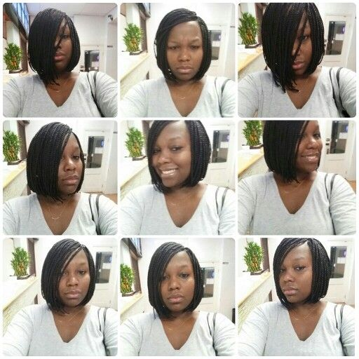"""I am in L O V E w my hair. Not to mention I'm not looking to shabby myself. It took me a hot minute to figure out what new do to rock. I thought long and hard. I knew... I didn't want to look everyone else. So I decided on a throwback Bob Box Braids. Def a true ol 90s style. Happy I chose it. Came out amazing. Have to thank Fama the owner and stylist @divazkay for a job well done. They are the new braiding shop """"Best African Hair Braiding"""" located on MLK & Atlantic Ave. Took me as a walk in…"""
