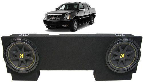"ASC Package Cadillac Escalade EXT 02-13 Dual 12"" Kicker C12 Subwoofer Under Seat Sub Box Enclosure 600 Watts Peak. ASC Package Cadillac Escalade EXT 02-13 Dual 12"" Kicker C12 Subwoofer Under Seat Sub Box Enclosure 600 Watts Peak."