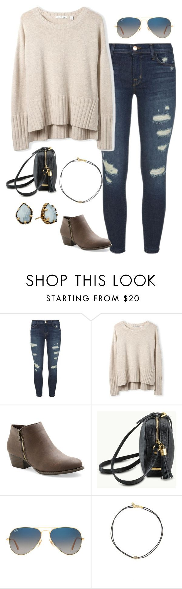 """""""Untitled #1737"""" by elephant10 ❤ liked on Polyvore featuring J Brand, UNIONBAY, GiGi New York, Ray-Ban, Vanessa Mooney and Kendra Scott"""