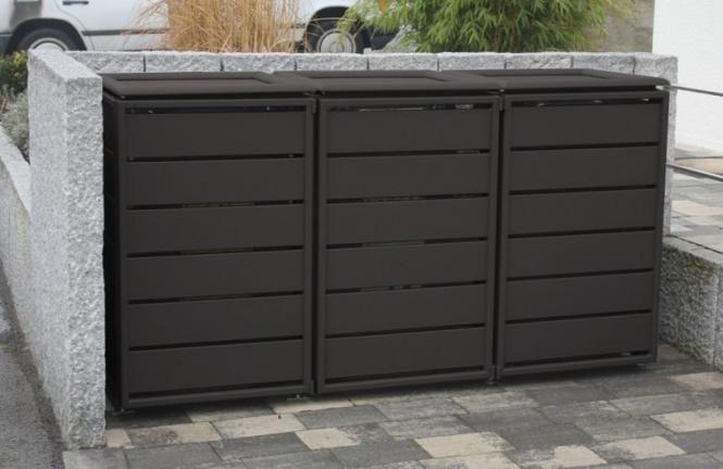 Mülltonnenbox 923826 Ecoplus, 240 Liter, Aluminium Dunkelgrau