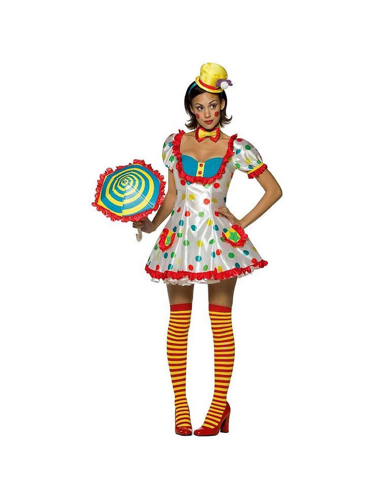 Colorful Female Clown Costume | Womens Clown Costumes