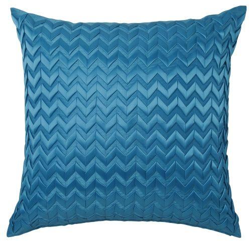 Pillowcase European Chevron Aqua