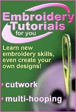embroidery tutorials. from secrets of embroidery. www.secretsof.com LOVE LOVE LOVE their website!!!!!!