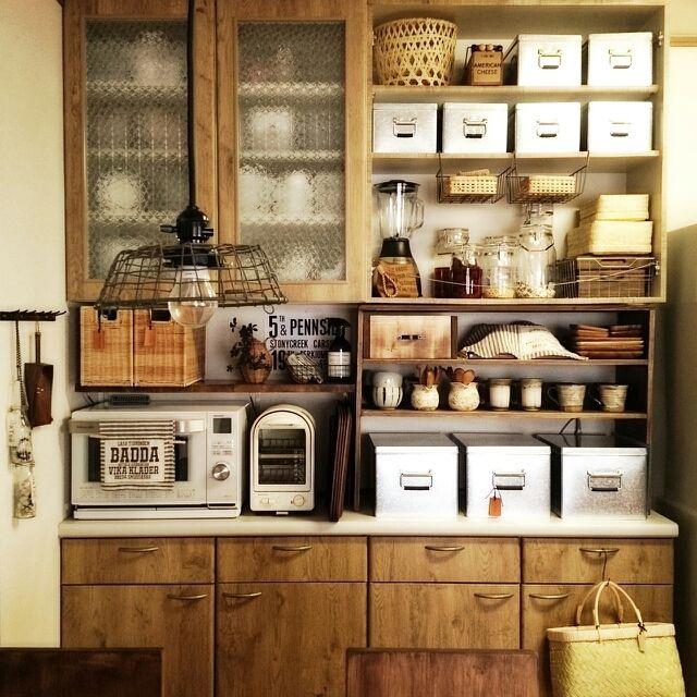 Lateさんの、キッチン,無印良品,DIY,見せる収納,竹かご,M224さん♡,セラーメイト,JUNさんのジャグ,Su-san-chiさん♡,のお部屋写真