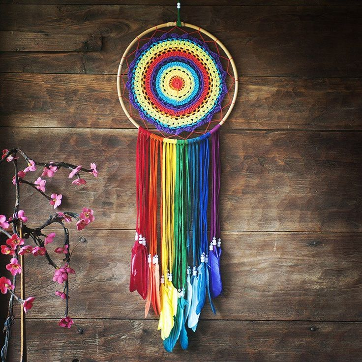 This is our NEW 7 chakras rainbow #dreamcatcher Bautiful, extra large handmade dream catcher crocheted into a colorful rainbow. Lovely addition to your #bohemian home and positive gift for yourself or somebody you #love ♥ Express shipping worldwide!!!