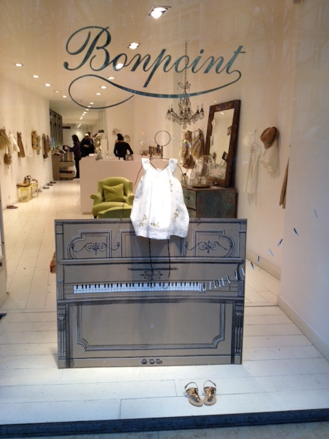 The Bonpoint window...so charming...my favorite children's store