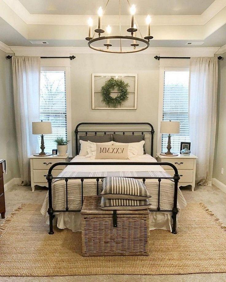 42+ Unbelievable Rustic Farmhouse Style Master Bedroom Ideas #farmhousestyle #ma…